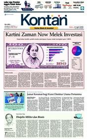 Cover Koran Kontan 21 April 2018