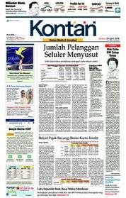 Cover Koran Kontan 24 April 2018