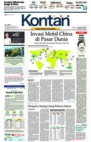 Cover Koran Kontan 25 April 2018