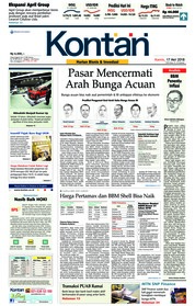 Cover Koran Kontan 17 Mei 2018