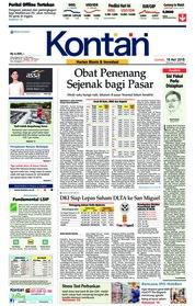 Cover Koran Kontan 18 Mei 2018