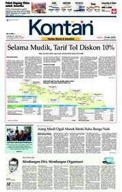 Cover Koran Kontan 19 Mei 2018