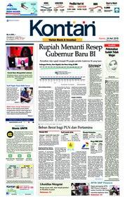 Cover Koran Kontan 24 Mei 2018