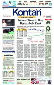 Cover Koran Kontan 25 Mei 2018