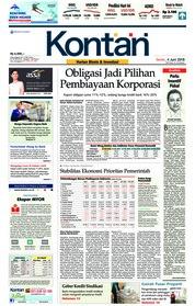 Cover Koran Kontan 04 Juni 2018