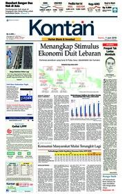 Cover Koran Kontan 07 Juni 2018