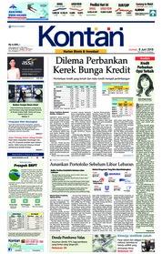 Cover Koran Kontan 08 Juni 2018
