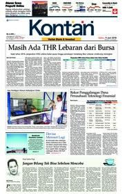 Cover Koran Kontan 09 Juni 2018