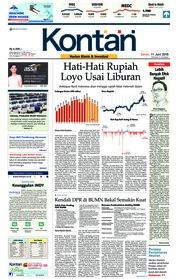 Cover Koran Kontan 11 Juni 2018