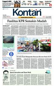 Cover Koran Kontan 23 Juni 2018