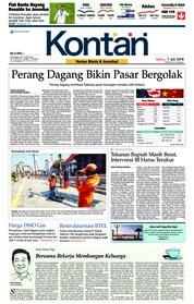 Cover Koran Kontan 07 Juli 2018