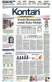 Cover Koran Kontan 12 Juli 2018