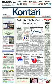 Cover Koran Kontan 19 Juli 2018