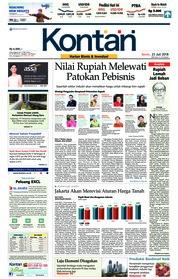 Cover Koran Kontan 23 Juli 2018