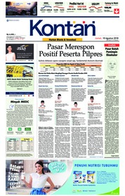 Cover Koran Kontan 10 Agustus 2018