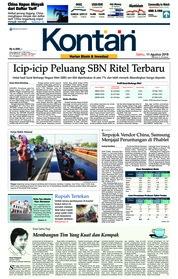 Cover Koran Kontan 11 Agustus 2018