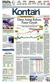 Cover Koran Kontan 14 Agustus 2018