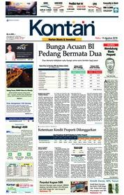 Cover Koran Kontan 15 Agustus 2018