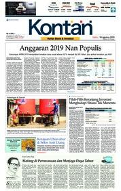 Cover Koran Kontan 18 Agustus 2018