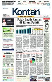 Koran Kontan Cover 20 August 2018