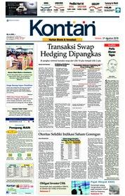 Cover Koran Kontan 21 Agustus 2018
