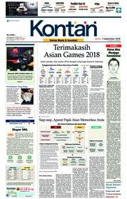 Cover Koran Kontan 03 September 2018