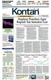 Cover Koran Kontan 05 September 2018