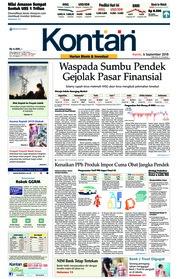 Cover Koran Kontan 06 September 2018