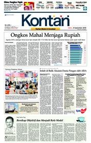 Cover Koran Kontan 08 September 2018