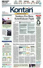 Cover Koran Kontan 10 September 2018