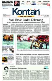 Cover Koran Kontan 15 September 2018