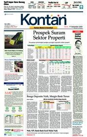 Cover Koran Kontan 17 September 2018