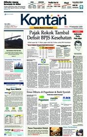 Cover Koran Kontan 19 September 2018