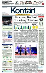 Cover Koran Kontan 20 September 2018