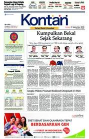 Cover Koran Kontan 21 September 2018