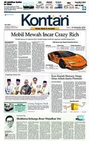 Cover Koran Kontan 22 September 2018