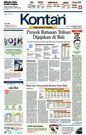 Cover Koran Kontan 09 Oktober 2018
