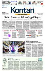 Cover Koran Kontan 13 Oktober 2018