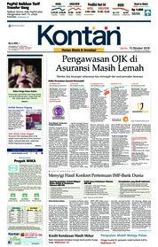 Cover Koran Kontan 15 Oktober 2018
