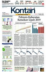 Cover Koran Kontan 17 Oktober 2018