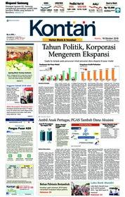 Cover Koran Kontan 18 Oktober 2018