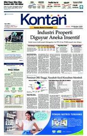 Cover Koran Kontan 19 Oktober 2018