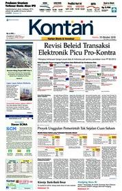 Cover Koran Kontan 25 Oktober 2018
