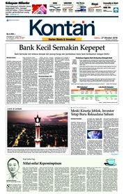 Cover Koran Kontan 27 Oktober 2018