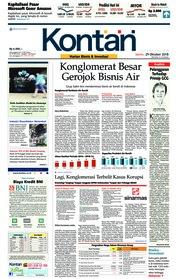 Cover Koran Kontan 29 Oktober 2018