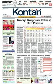 Cover Koran Kontan 30 Oktober 2018
