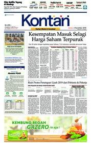 Cover Koran Kontan 02 November 2018