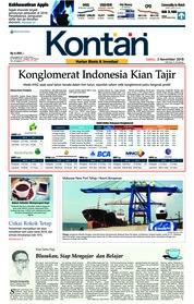 Cover Koran Kontan 03 November 2018