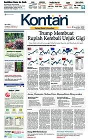Cover Koran Kontan 08 November 2018