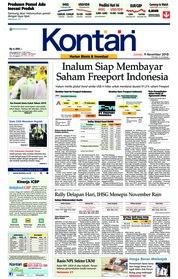 Cover Koran Kontan 09 November 2018